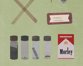 x files poster TV (8x10, 11x14, or 13x19) X-Files alternate