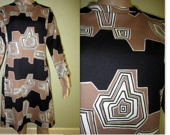 Vintage Dress,  1970s Pop Art dress, graphic design dress, vintage MOD op art dress, Carnaby Street style mod dress, mid century dress,