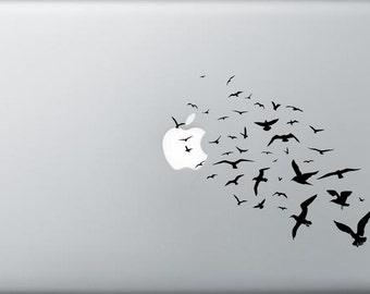 Flying birds laptop macbook  car window decal bird sticker vinyl decal