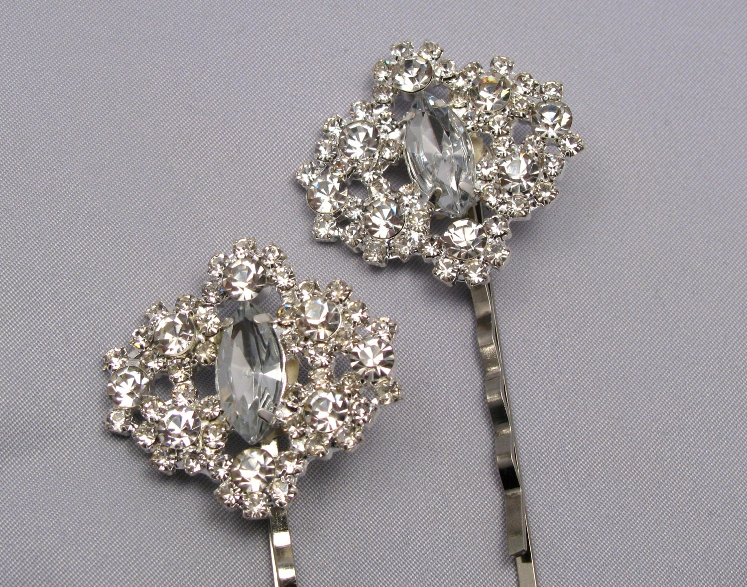 Jeweled Hair Pins For Wedding