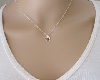 Butterfly Necklace, Sterling Silver butterfly Necklace, butterfly Charm on Sterling Silver Chain, The Perfect Gift