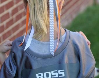 Custom Team Ribbon Ponies - Spirit Ribbon Ponies - Ribbon Ponies - Cheerleading Ribbon Ponies - Team Spirit Hair Accessories - Team Spirit