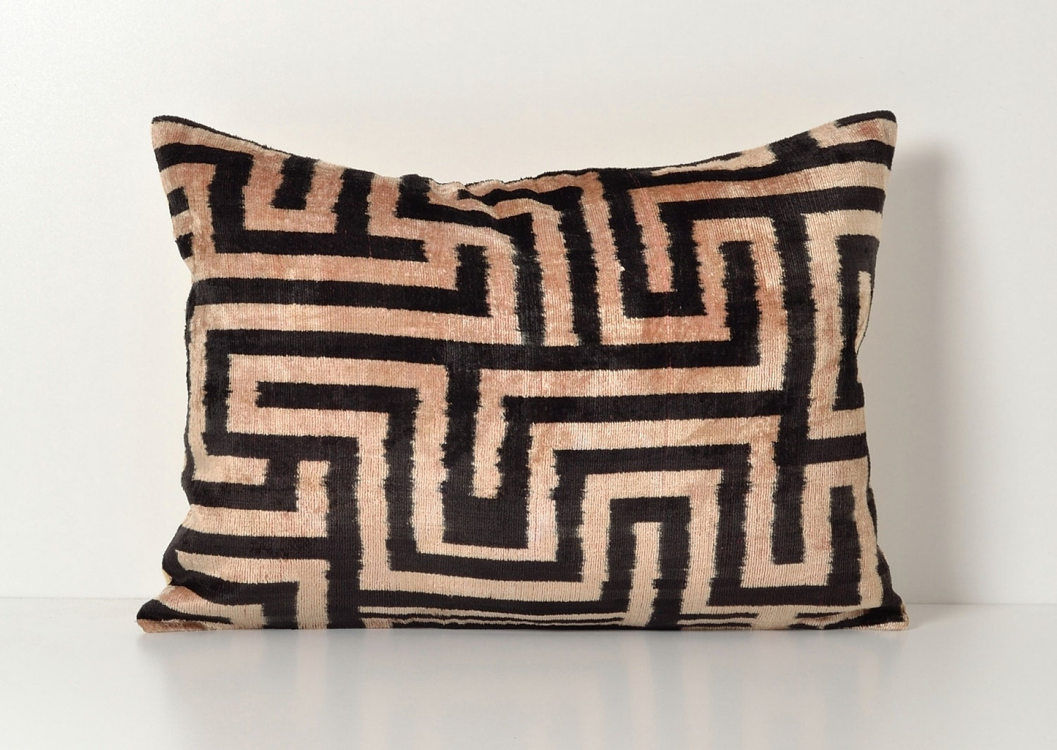 Black Ikat Pillow Ikat Pillows Couch Pillow by pillowme on Etsy