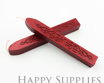 2pcs Wine Red Wick Sealing Wax Stick for Wax Seal Stamp (SW14-A)