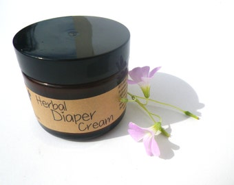 Diaper Rash Cream 2oz All Natural Organic Cloth Diaper Safe // New Mom Baby Shower Gift Under 15