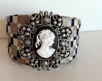 Beautiful Cameo Cuff Bracelet