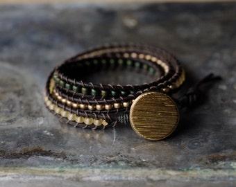 Forest 3 Wrap Bracelet