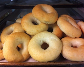Gluten Free Bagels, Plain - the real thing, chewy and delicious!
