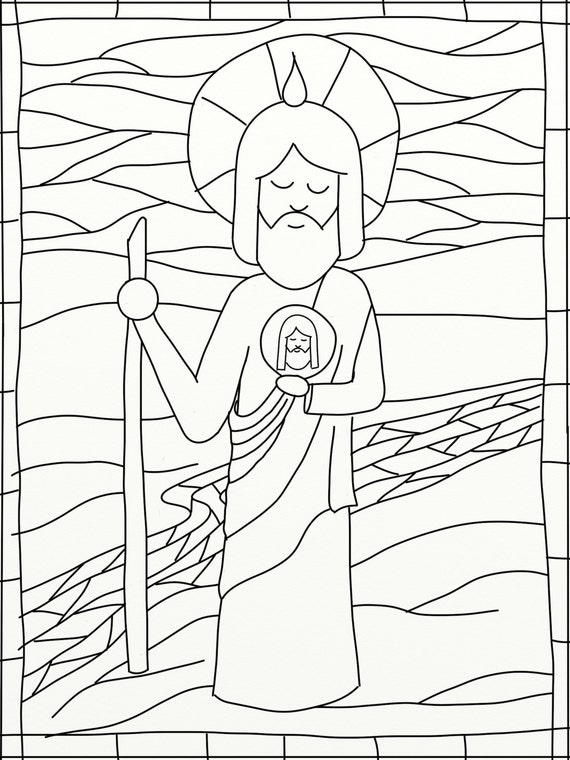 Unavailable Listing On Etsy St Jude Coloring Page