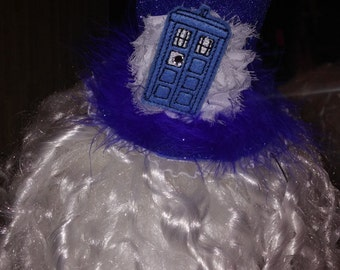 Dr. Who tardis inspired mini  top hat