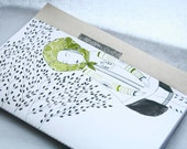 Eco-friendly OOAK Hand Illustrated Notebook