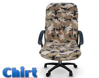 Mr. Camo Chirt Office Chair Cover