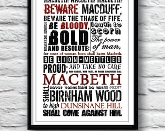 the downfall of macbeth through the witchs prophecies The tragic downfall of macbeth  the tragic downfall of shakespeare's macbeth  the influence of lady macbeth, the witch's prophecies and macbeth.