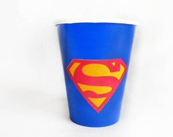 Superman Birthday cups 12 count