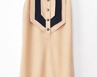 Mini Dress, Beige Dress