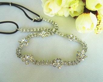 Sparkling Swarovski headband,Bridal headpiece, Wedding hair halo, Bridal tiara