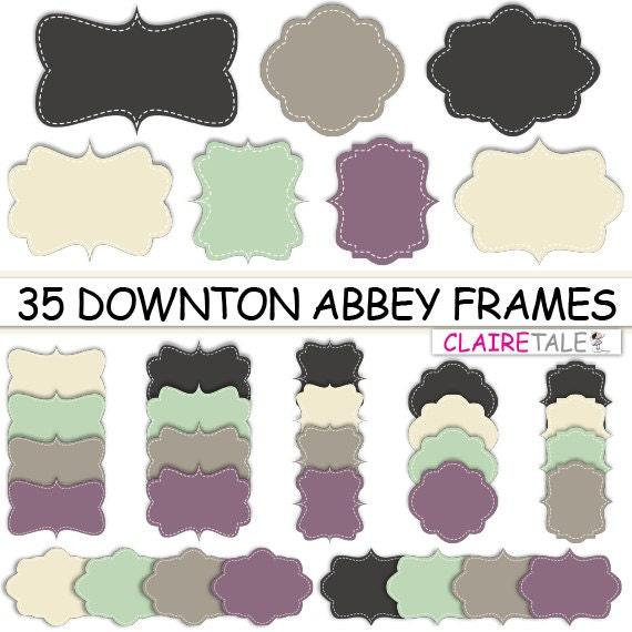 Etsy's Claire Tale Downtown Abbey on Etsy Scrapbooking Digital Downloads