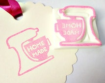 Mixer stamp, Cooking stamp, Democation stamp, Pink mixer, Tag stamp, Pastel color stamp, HOME MADE stamp, Love cooking, Baking stamp, Home m
