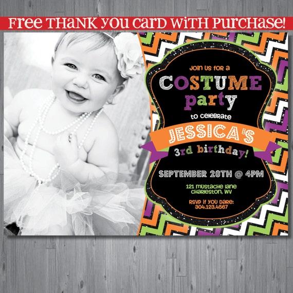 Items Similar To Halloween Birthday Invitation, First