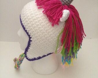 Crochet Unicorn Beanie