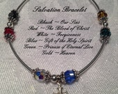 Salvation Prayer Bracelet Swarovski and Stering Silver - BayouJewelry