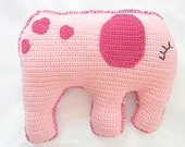 Pattern for Crochet Pillow for Kids - Reversible Elephant Toy - PDF Instant Download - HerterCrochetDesigns