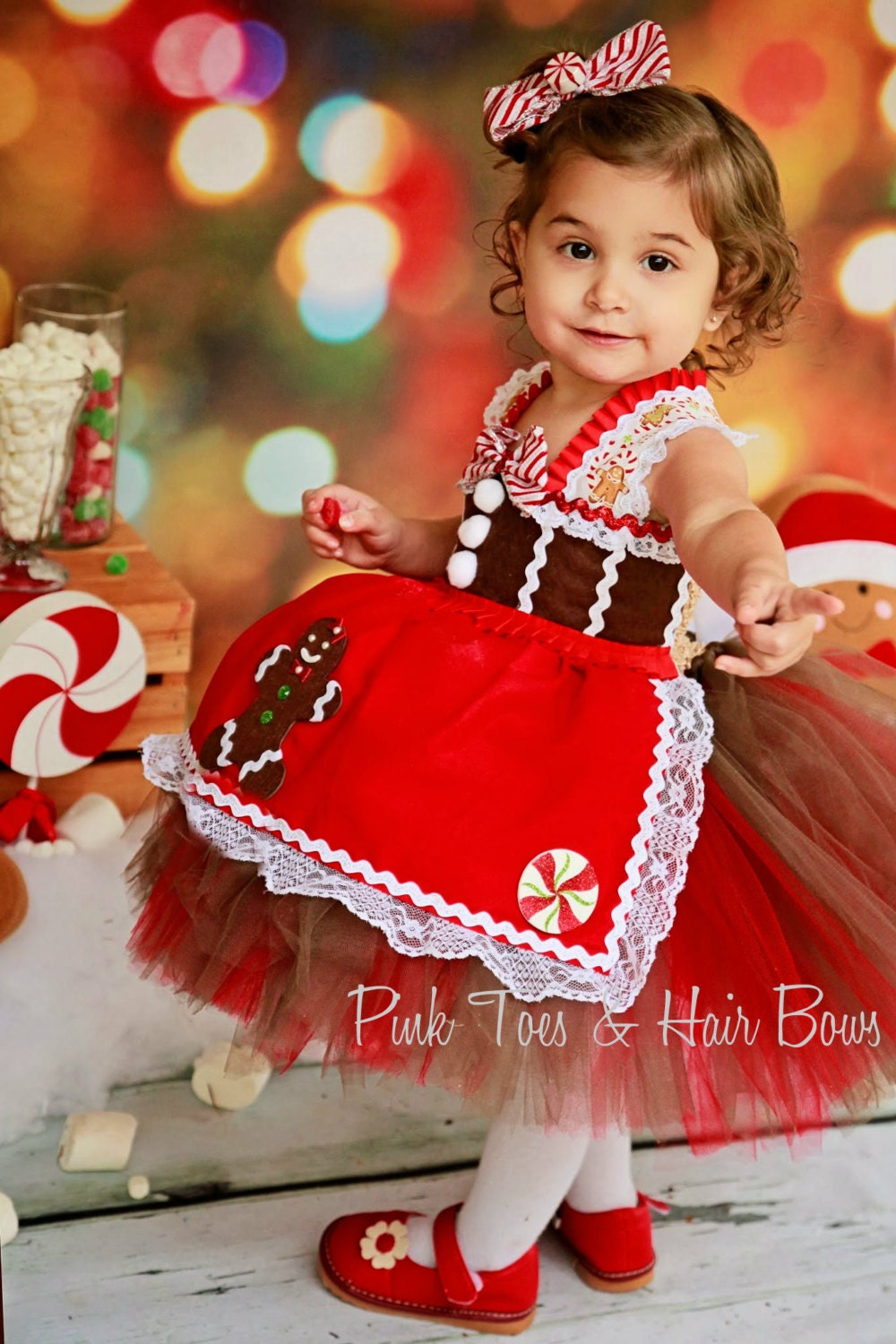 valentine photo shoot ideas for babies - Gingerbread Tutu Dress Christmas tutu dress gingerbread