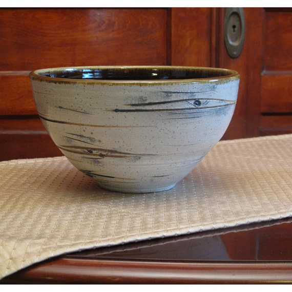 Large, Brown, Aspen Tree Bowl