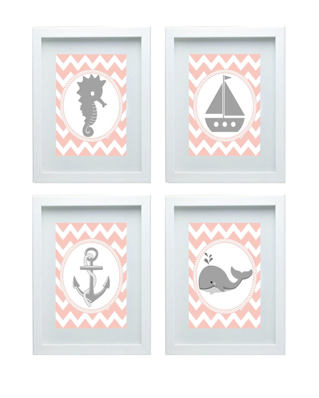 Nautical decor nursery art beach decor anchor boat seahorse for Where can i buy nautical decor