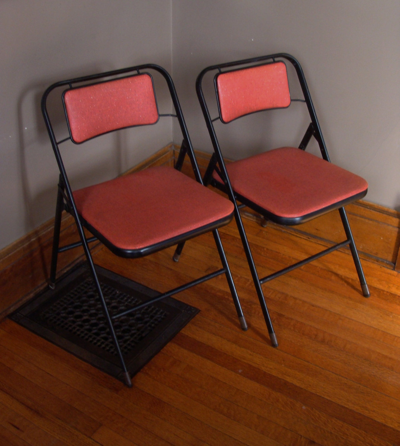 Vintage Metal Folding Chairs Card Table Chairs Samsonite