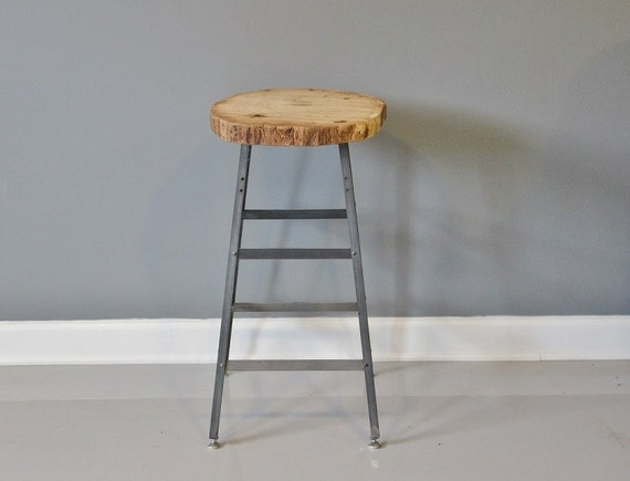 Bar Stool Made From Live Edge White Oak Free Shipping By