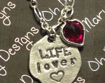 Life Lover Pendant Necklace with Swarovski Crystal Heart charm