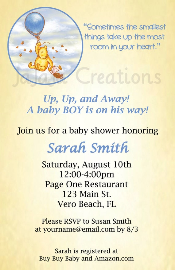 Classic Winnie The Pooh Baby Shower Invitations As Best Invitation Sample