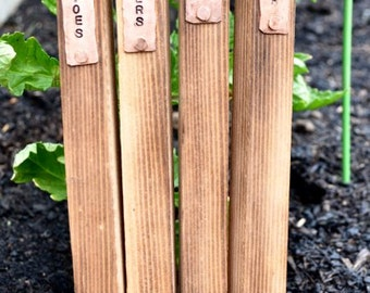 Herb Garden Stakes with Copper Tag (each) - Great Gardener's Gift!