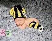 Crochet Beanie Leg Warmer Set Bumble Bee Photo Prop