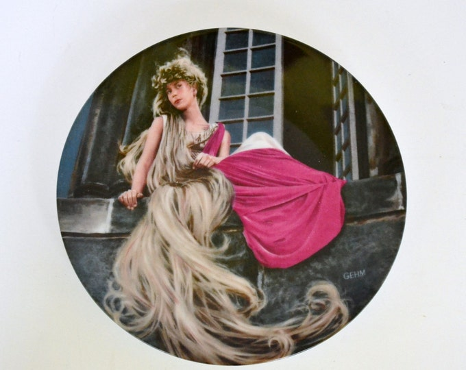 DEAL OF WEEK Vintage Grimms Fairy Tales Rapunzel Collector Plate Bradford Exchange PanchosPorch