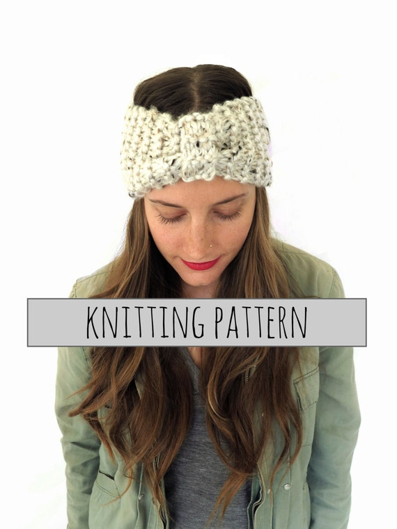 Knit Turban Headband Pattern : PATTERN for Chunky Soft Knit Turban Headband Ear by TwoOfWandsShop