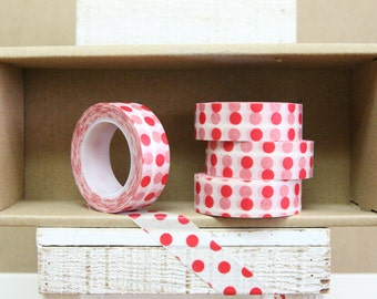 Washi Tape - red polka dots - 1021