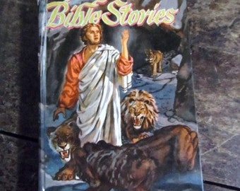 1955 BIBLE STORIES- Stories from the Old & New Testaments illustrated by Bruno Frost- Whitman Publishing Co.