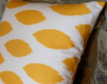 "Yellow Chipper Pillow Cover//18"" Throw Pillow"