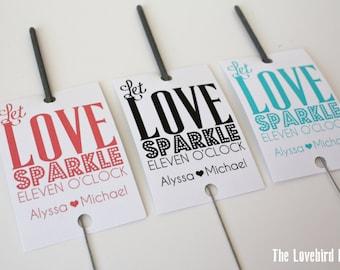 Printable Wedding Sparkler Tags -  Let Love Sparkle - Sparkler Send Off - AA4