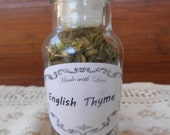 Dried English Thyme, Whole Leaf, 6 grams, No Pesticides, no Chemicals