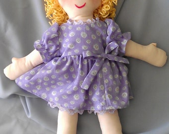 15 inch cloth doll with Easter dress from the Ann Marie Collection