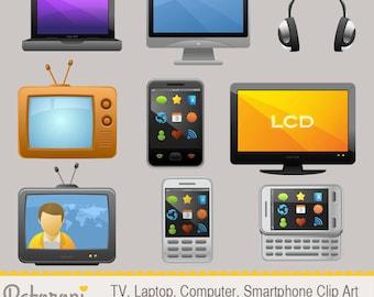 Laptop, TV, Computer, Smartphone, Gadget Clip Art