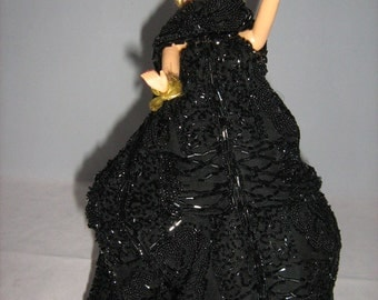 Wonderful Vintage Collector Doll With Fantastic Bead Work Dress.