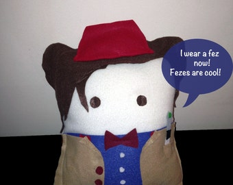 11th Doctor (Matt Smith) Decorative Fleece Character Geek Pillow (plush, cushion)