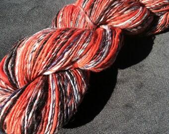 Hand-dyed, Handspun Wool Yarn - A Very Distinctive Yarn - 290yds, 2.35oz
