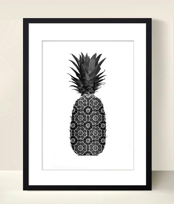 fruits poster pineapple poster digital download by digitalartparis. Black Bedroom Furniture Sets. Home Design Ideas