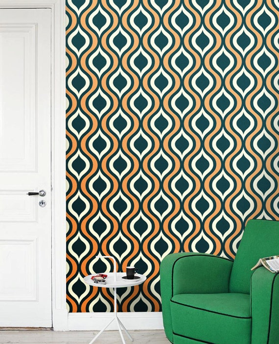 Vinyl removable wallpaper peel and stick removable modern for Temporary vinyl wallpaper