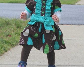 Baby Classic Ruffle Dress, PDF Sewing Pattern, Sizes NB-24 months